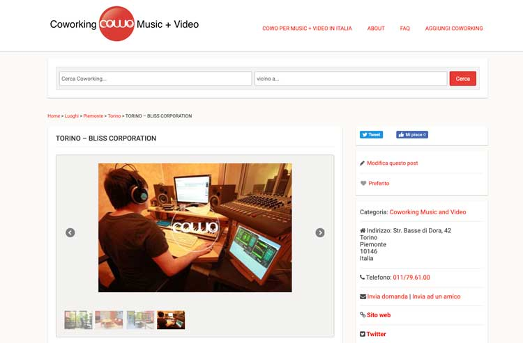 Music and Video Coworking Torino